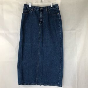 Sonoma Blue Jean Denim Maxi Skirt